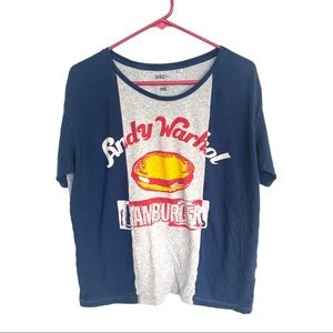 🍋SPRZ NY Andy Warhol Hamburger T-shirt Uniqlo L